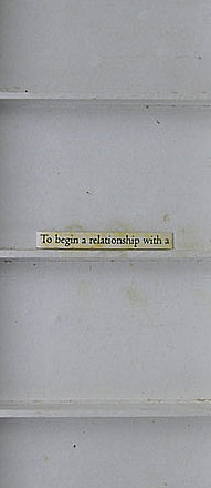 To Begin A Relationship With A  (VI)
